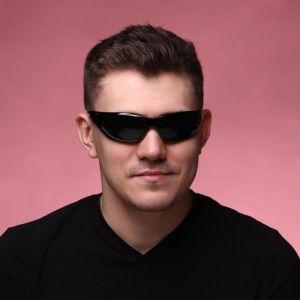 """Очки солнцезащитные """"Мастер К."""", uv 400, 14х14х4.5 см, линза 4.5х5.2 см, чёрные   4703641"""