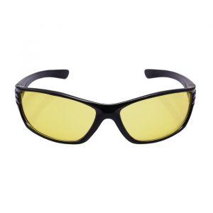 Очки солнцезащитные водительские, линза жёлтая, дужки чёрные закругленные 14х4х4 см 2638677