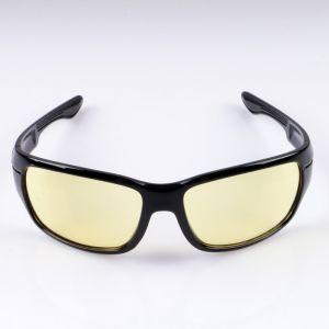 Очки солнцезащитные водительские, линза жёлтая, дужки чёрные, 14х4х4 см 2638679