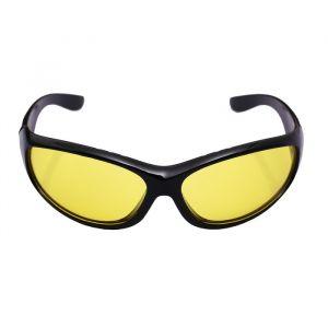 Очки солнцезащитные водительские, линза желтая, дужки черные, с раширен. заушник. 14*4*4см 2638678