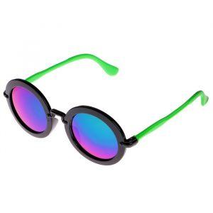 """Очки солнцезащитные детские """"Round"""", оправа круглая, двухцветная, МИКС, 13 ? 12.5 ? 5 см"""
