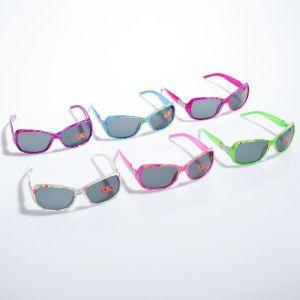 """Очки солнцезащитные детские """"Oversize"""", оправа двухцветная, вставка косточка, МИКС, 12.5 см"""