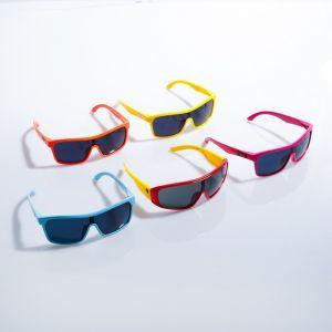 """Очки солнцезащитные детские """"Спорт"""", оправа двухцветная, МИКС, линзы тёмные, 13 ? 12.5 ? 5.5 см"""