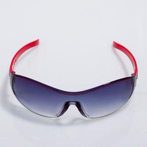 """Очки солнцезащитные детские """"Спорт"""", оправа полоса, дужки МИКС, линза сплошная, 13.5 ? 12 ? 4 см"""