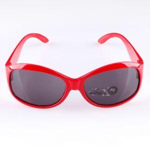 Очки солнцезащитные. спортивные, uv 400, 11х12х4.5 см, линза 3.6х5 см, красные   4703581