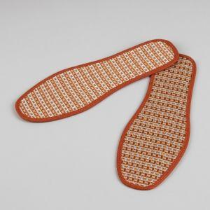 Стельки для обуви, окантовка, 42 р-р, пара, цвет коричневый