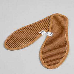 Стельки для обуви, окантовка, 40 р-р, пара, цвет коричневый