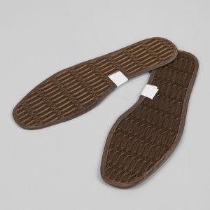 Стельки для обуви, окантовка, 44 р-р, пара, цвет коричневый