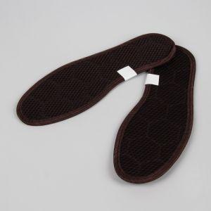 Стельки для обуви, окантовка, 45 р-р, пара, цвет коричневый