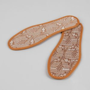Стельки для обуви «Узор», окантовка, 40 р-р, пара, цвет коричневый