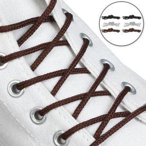 Набор шнурков для обуви, 6 пар, круглые, d = 5 мм, 75 см, цвет МИКС