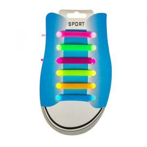 Резиновые шнурки, набор 6 шт., цвета МИКС