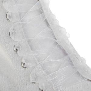 Шнурки для обуви, пара, капроновые, плоские, 20 мм, 110 см, цвет белый
