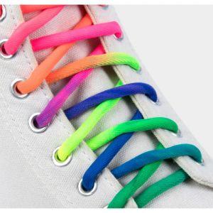 Шнурки для обуви, пара, круглые, 5 мм, 110 см, цвет «радужный»