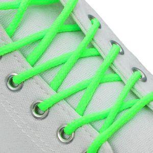 Шнурки для обуви, пара, d = 3 мм, 120 см, цвет зелёный неоновый