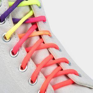 Шнурки для обуви, пара, круглые, 5 мм, 120 см, цвет «радужный»