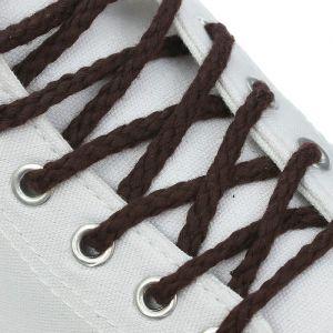 Шнурки для обуви, пара, круглые, d = 5 мм, 160 см, цвет коричневый