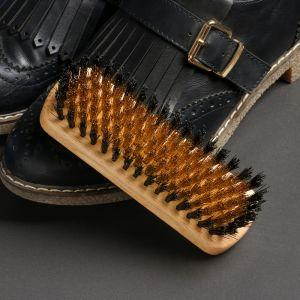 Щётка обувная для нубука 13,5?4,4?1,6 см, 114 пучков