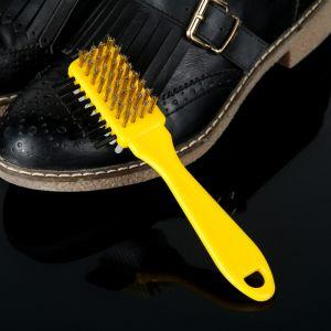 Щётка тройная для обуви: замша, нубук, велюр