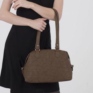 Сумка женская, отдел на молнии, наружный карман, цвет светло-коричневый