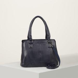 Сумка женская, отдел с перегородкой на молнии, наружный карман, длинный ремень, цвет синий