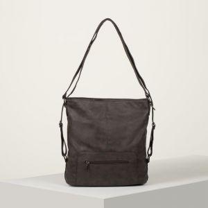 Сумка-рюкзак, отдел с перегородкой на молнии, 2 наружных кармана, цвет коричневый