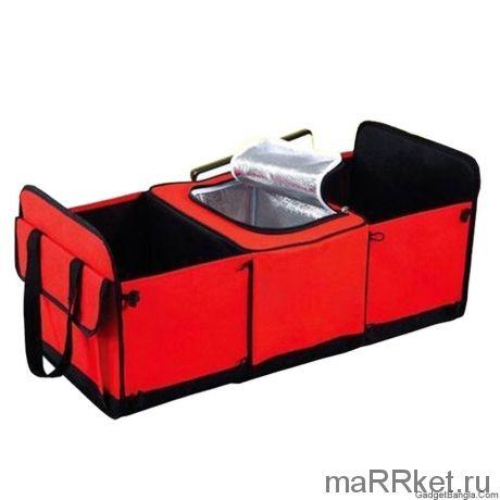 Органайзер - холодильник в багажник автомобиля TRUNK ORGANIZER & COOLER (красный)