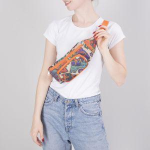 Сумка поясная, отдел на молнии, наружный карман, цвет оранжевый/бежевый