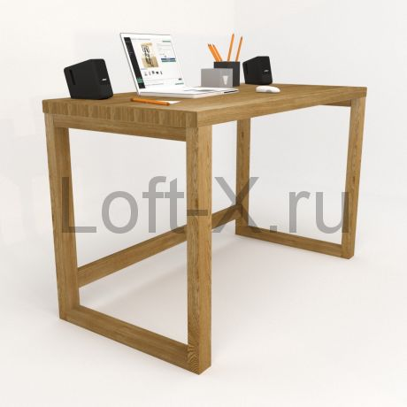 """Рабочий стол """"Дизайн О"""" из массива дуба."""