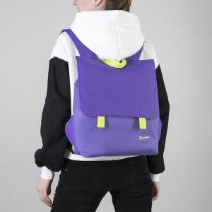 Рюкзак молодёжный, отдел на молнии, с косметичкой, цвет сиреневый