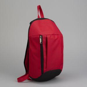 Рюкзак молодёжный, отдел на молнии, 2 наружных кармана, цвет чёрный/красный