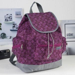 Рюкзак молодёжный, отдел на шнурке, 3 наружных кармана, цвет фиолетовый