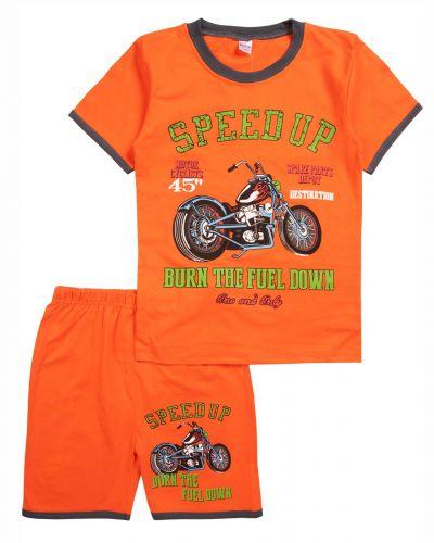 """Комплект для мальчика 4-8 лет BONITO """"Speed Up"""" оранжевый"""