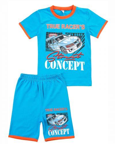 """Комплект для мальчика 4-8 лет BONITO """"True Racers"""" лазурный"""