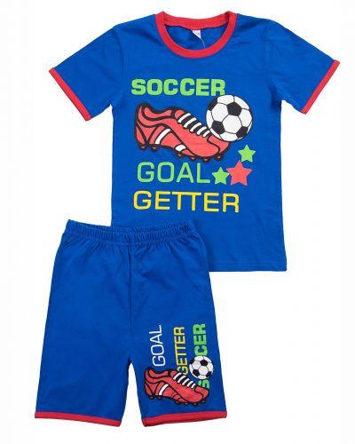 """Комплект для мальчика 4-8 лет BONITO """"Soccer Goal"""" синий"""