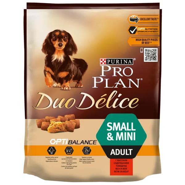 Корм сухой Duo Delice Small Adult Beef для взрослых собак мелких пород с говядиной и рисом 0.7кг
