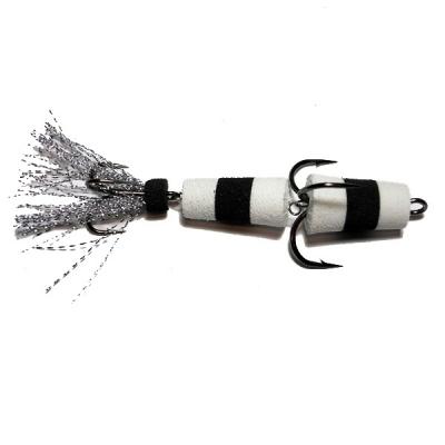 Приманка Мандула Флажок XXL Fish модель 1, р.85 мм, цв. бело-черно-белый