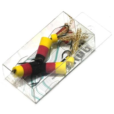 Мандула приманка на щуку Lucky John Frog р. 70 мм, цв. желто-красно-черный