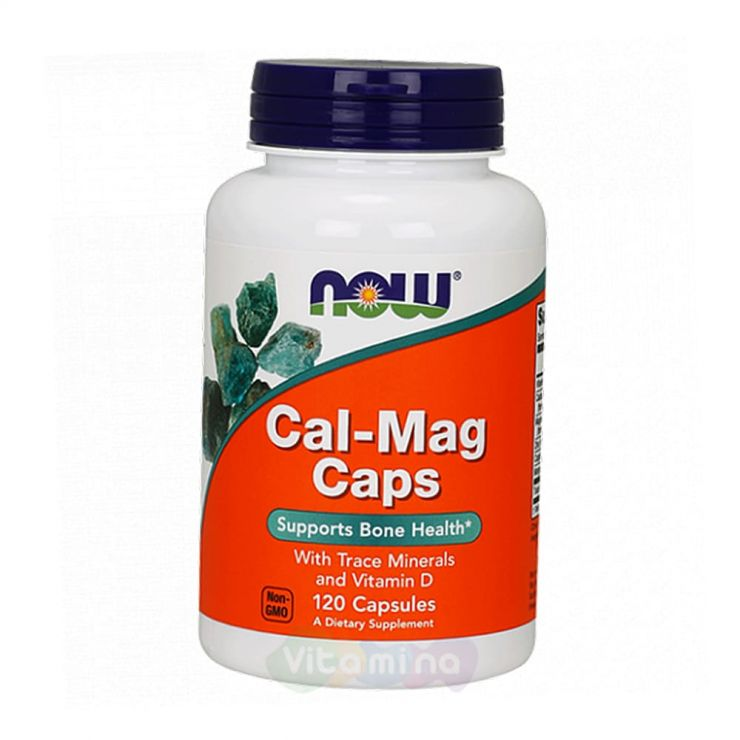 Now Foods Cal-Mag Кал Маг с витамином Д, 120 капс.