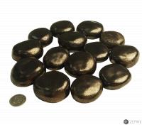 Декоративные керамические камни красное золото - 14 шт