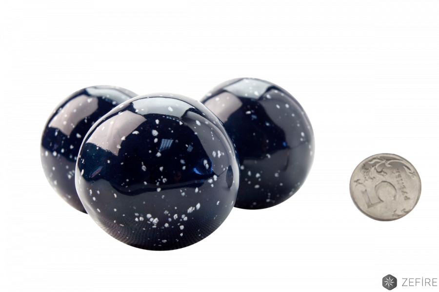 Декоративные керамические камни-шары космос синие - 14 шт