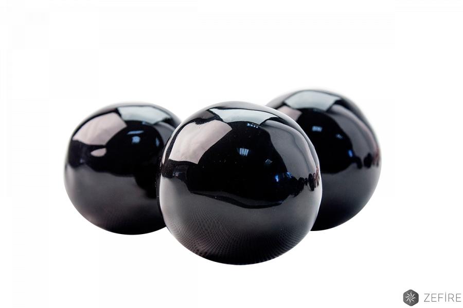 Декоративные керамические камни-шары черные 14 шт
