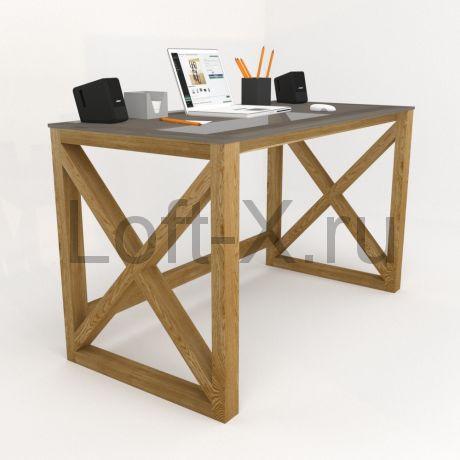 """Письменный стол  - """"XO"""" из массива дуба со стеклянной столешницей"""