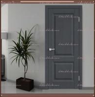 Межкомнатная дверь ALTO 6 Глухое SoftTouch структурный Ясень графит :