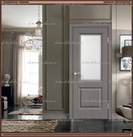 Межкомнатная дверь ALTO 6 Остекленное SoftTouch структурный Ясень грей, стекло - МАТЕЛЮКС Контур1 :