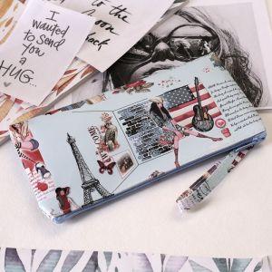 Кошелёк женский, отдел на молнии, с ручкой, цвет мятный