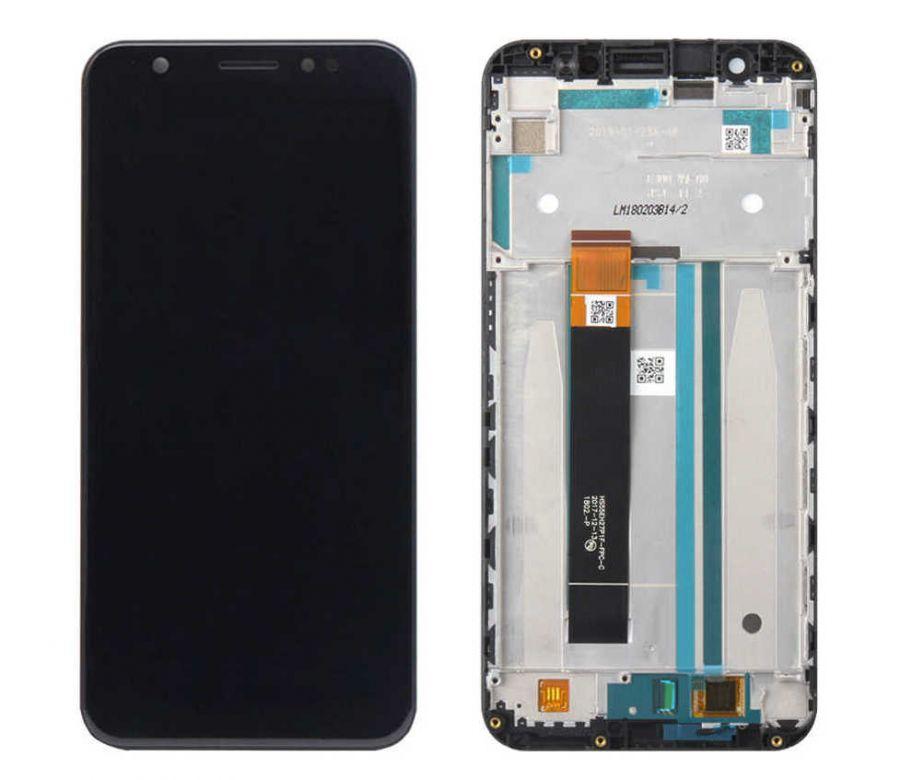 LCD (Дисплей) Asus ZB555KL ZenFone Max (M1) (в сборе с тачскрином) (в раме) (black) Оригинал