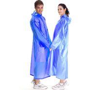 Плащ-дождевик виниловый для взрослых, голубой