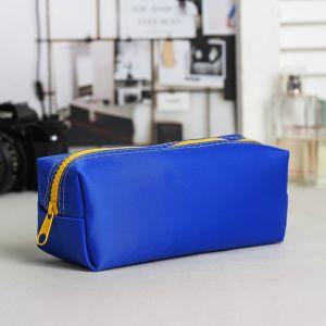 Косметичка-пенал, отдел на молнии, цвет синий