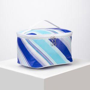 Косметичка-сумочка, отдел на молнии, с зеркалом, цвет разноцветный